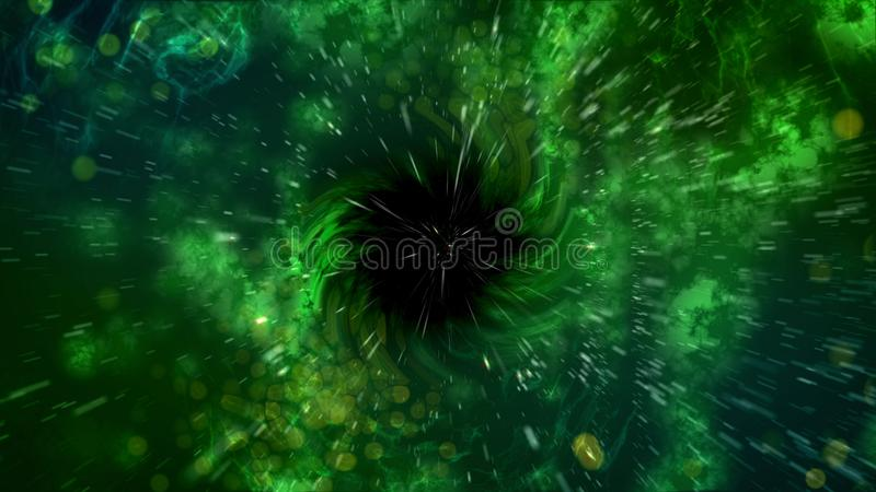 Abstrakt czarnej dziury ślimakowata ilustracja ilustracja wektor