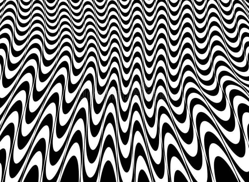 Abstrakt czarny i biały op sztuki siatki wzoru tło royalty ilustracja