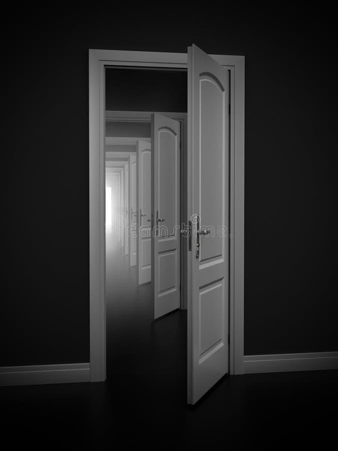 Abstrakt dörrar stock illustrationer