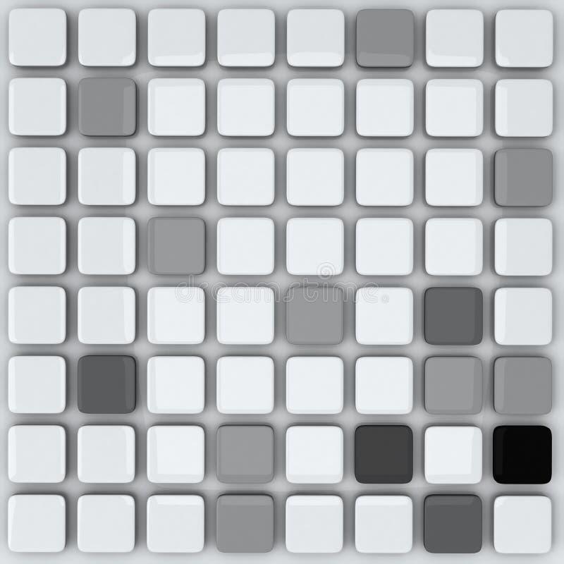 Abstrakt 3d bakgrund - grå färgkuber royaltyfri illustrationer