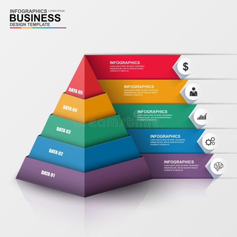 Abstrakt 3D cyfrowy biznesowy Infographic royalty ilustracja