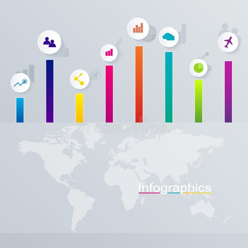 Abstrakt 3D digital illustration Infographic vektor illustrationer