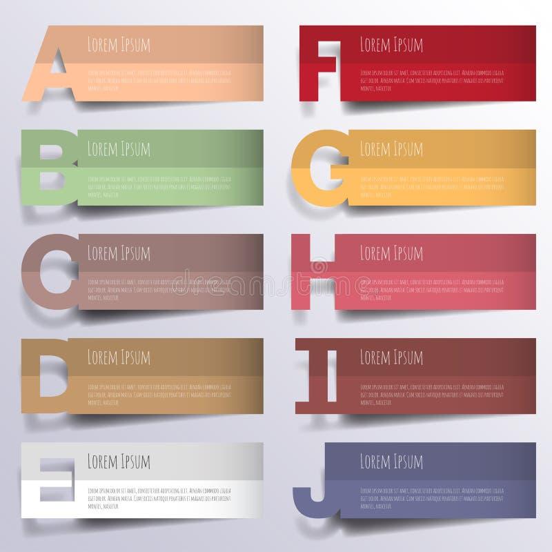 Abstrakt 3D digital illustration Infographic stock illustrationer