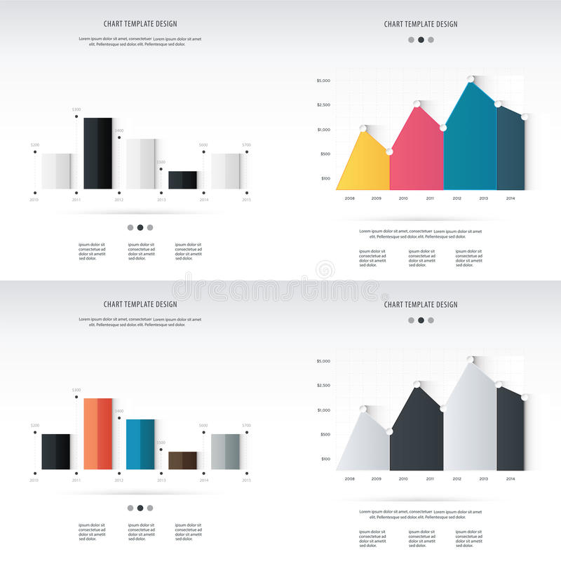 Abstrakt 3D digital illustration Infographic Vektor Illustratio stock illustrationer