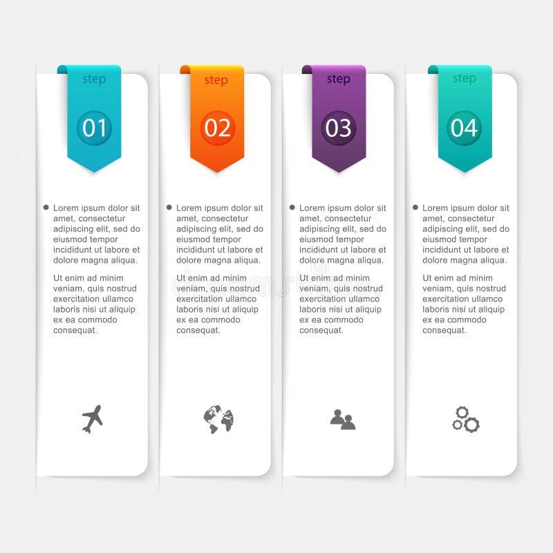 Abstrakt 3D digital illustration Infographic Vektor Illustratio royaltyfri illustrationer