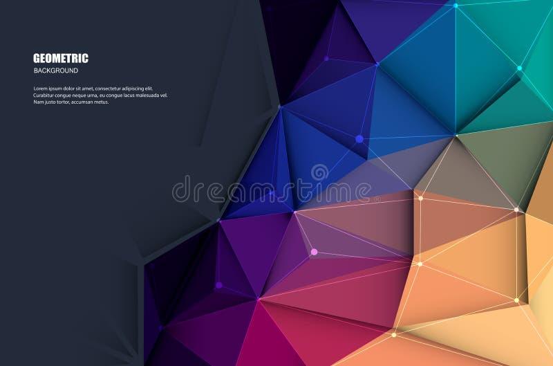 Abstrakt 3D Geometryczny, Poligonalny, trójboka wzór royalty ilustracja