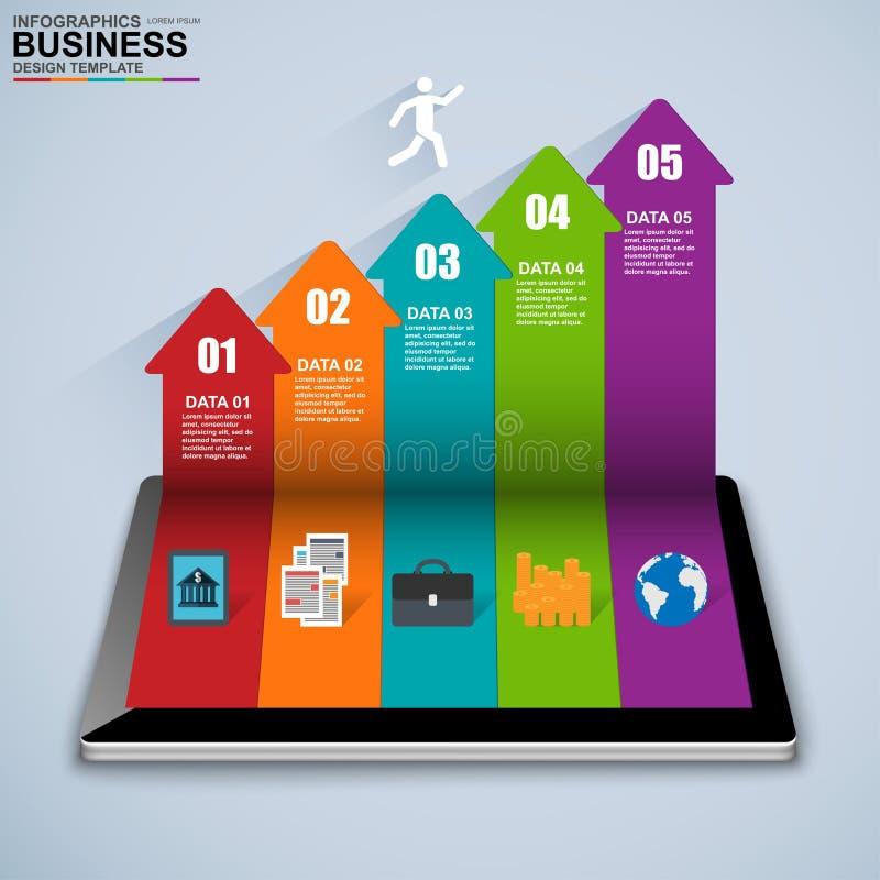 Abstrakt 3D isometrisk affär Infographic stock illustrationer