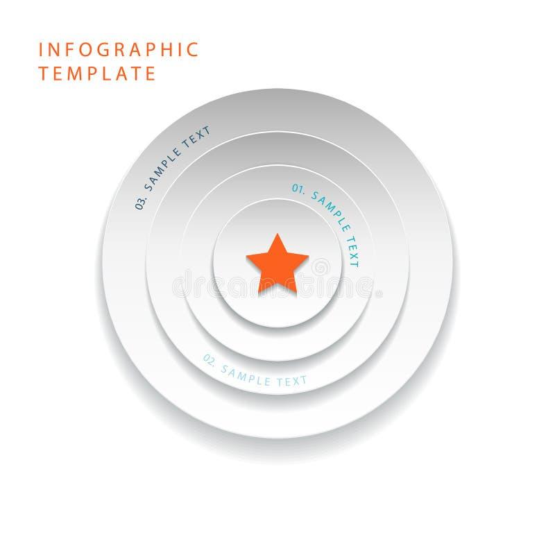 Abstrakt 3d Okrąża ewidencyjne grafika dla praca przepływu układu, diagram, numerowe opcje, sieć projekt royalty ilustracja