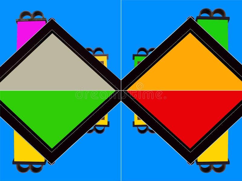 Abstrakt dach i komin 4 - Odzwierciedlający - różnicy - ilustracja wektor