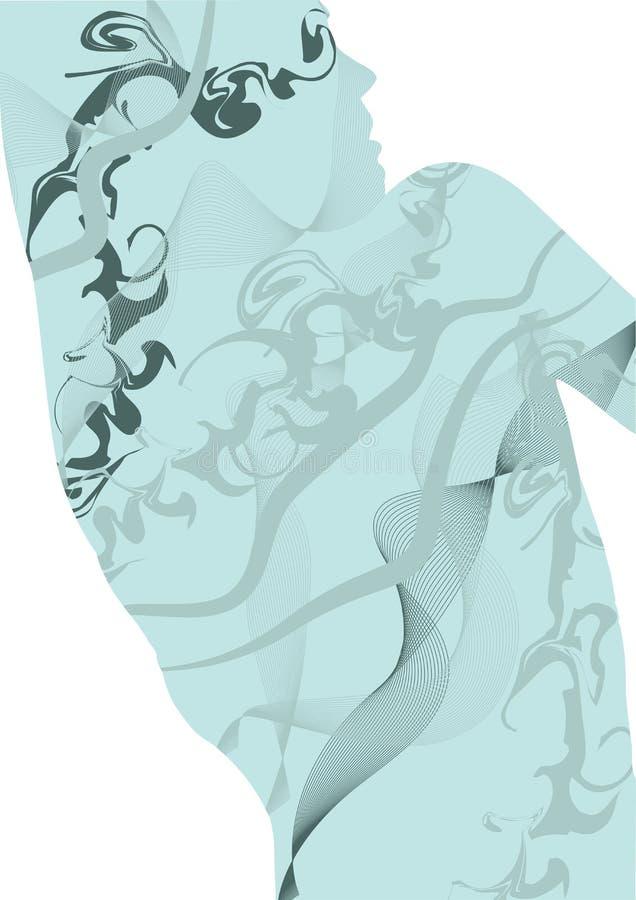 abstrakt dansare vektor illustrationer