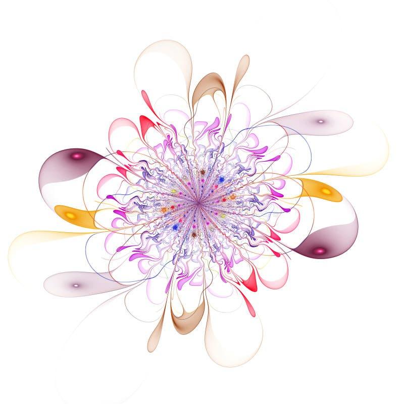 Abstrakt dator-frambragd bild för fractal härlig blomma stock illustrationer