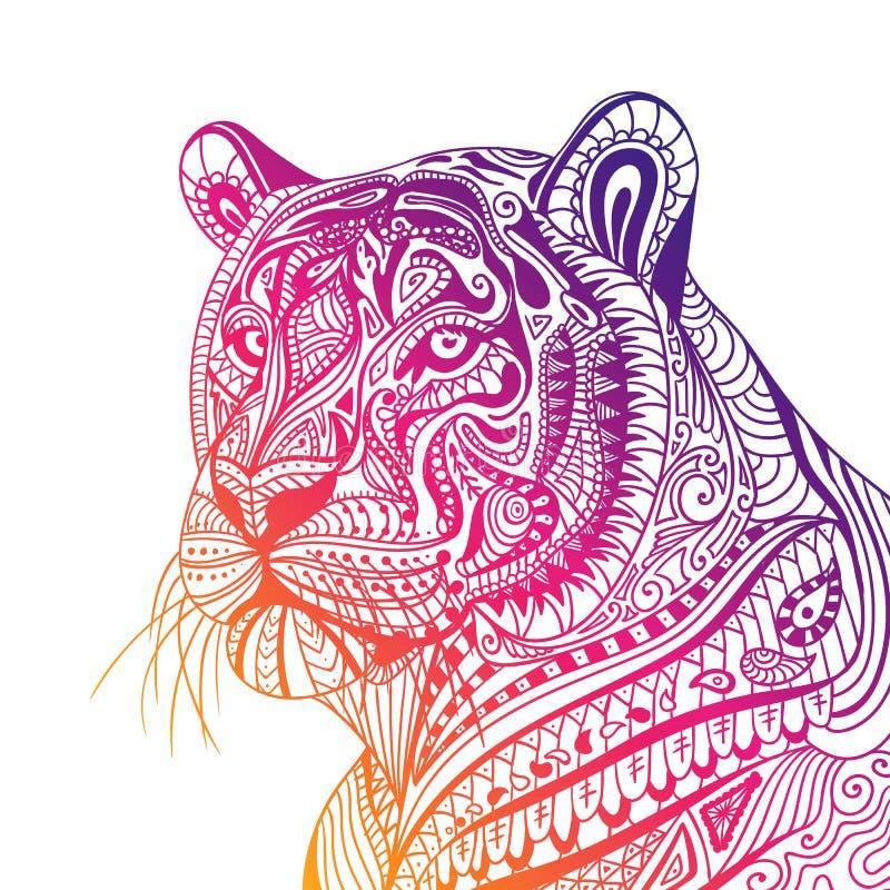 Abstrakt dekorativ tiger vektor illustrationer