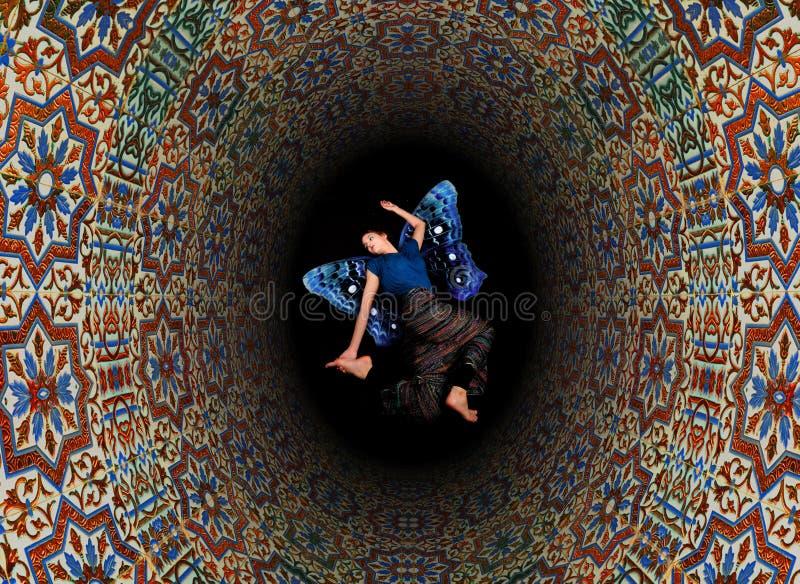 abstrakt dekorativa tegelplattor fotografering för bildbyråer