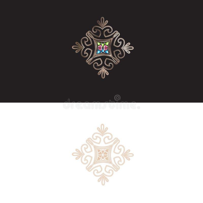 Abstrakt dekorativt tecken för smyckenGemstone arkivfoto