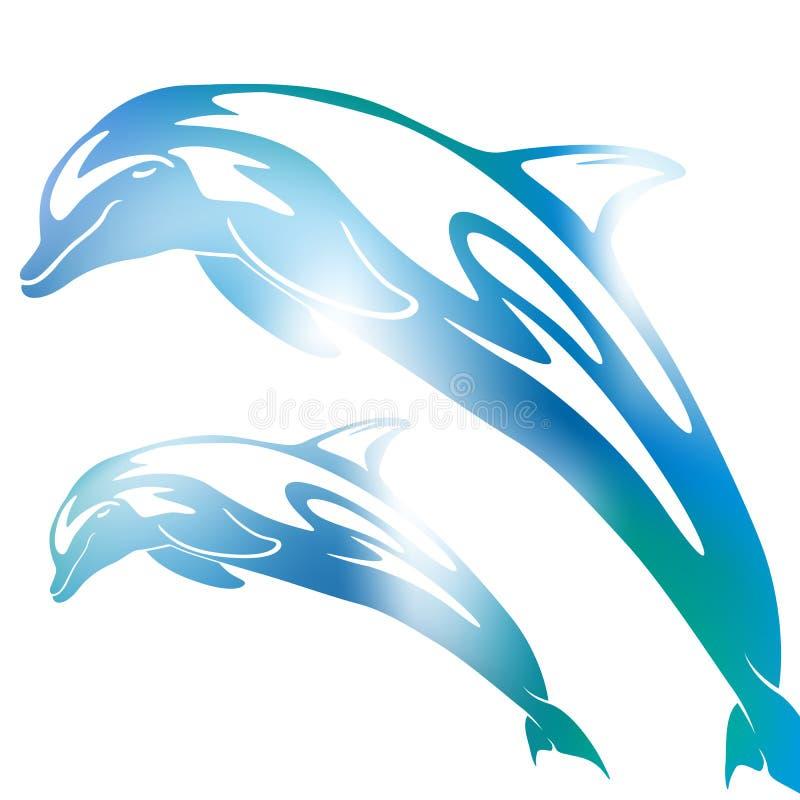 Abstrakt delfinsuddighet stock illustrationer