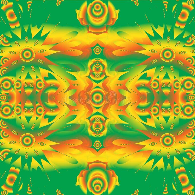 Abstrakt deseniowa Bezszwowa tekstura psychodeliczny tło struktura abstrakcyjna również zwrócić corel ilustracji wektora ilustracji