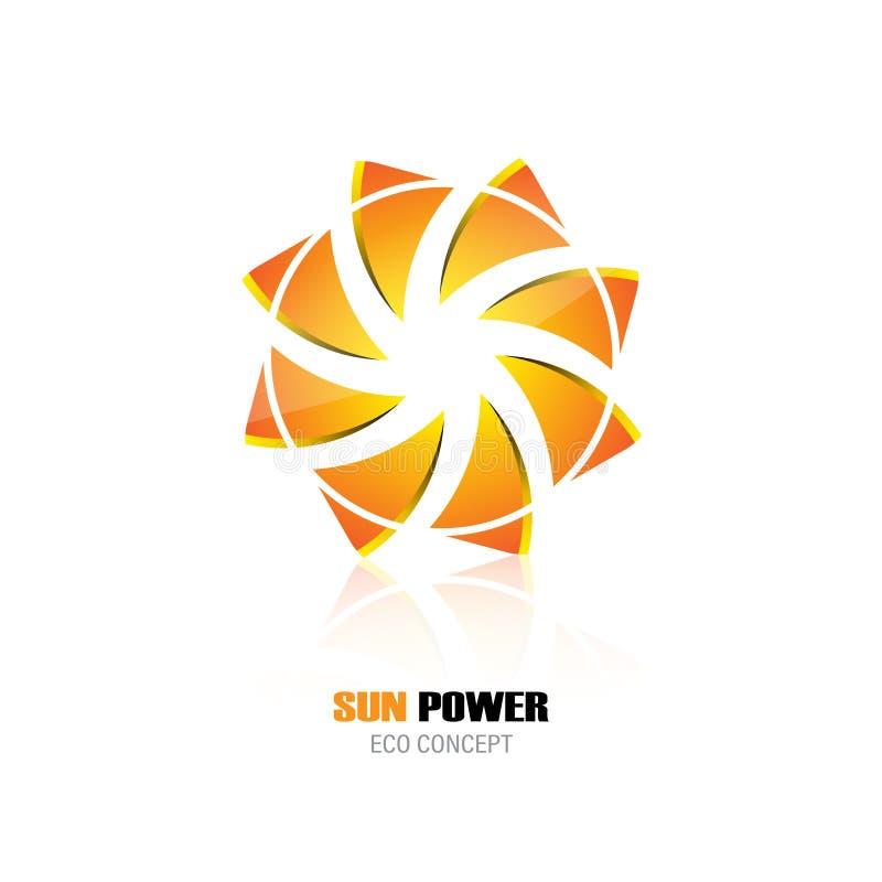 Abstrakt design för företags identitet för symbol för symbol för logo för begrepp för design för energi för ecosolmakt stock illustrationer