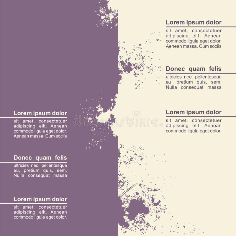 Abstrakt design för grungebakgrundsmall vektor vektor illustrationer
