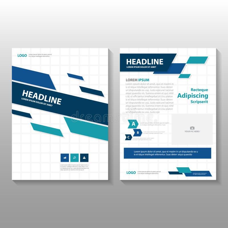 Abstrakt design för mall för reklamblad för broschyr för broschyr för gräsplanblåttårsrapport, bokomslagorienteringsdesign vektor illustrationer