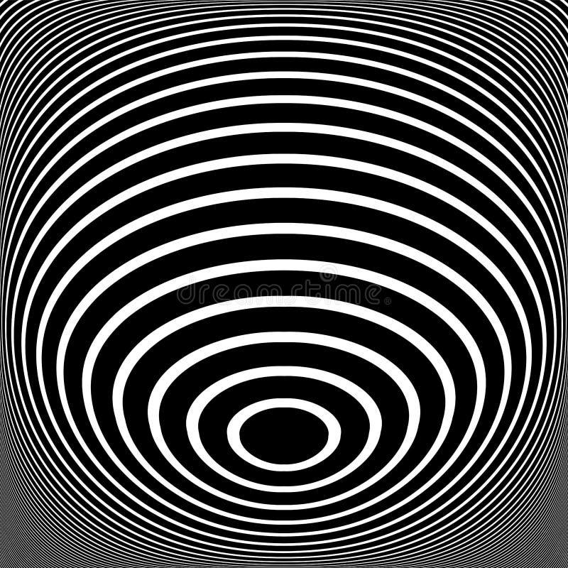 Abstrakt design f?r op konst Vektorkonst Ovallinjer textur arkivfoto