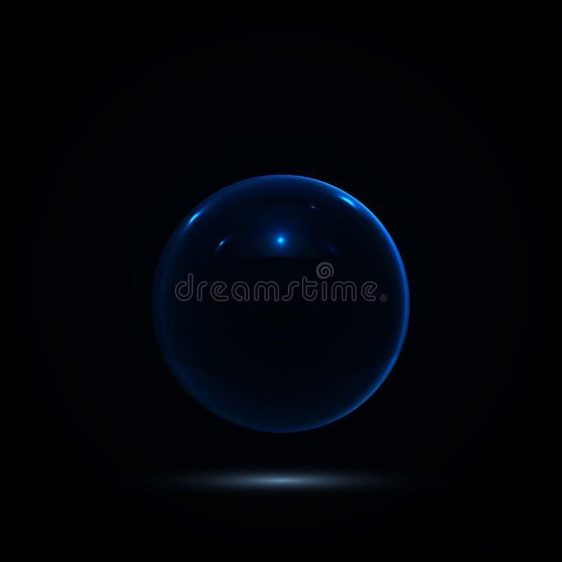 Abstrakt design med den glass sfären vektor vektor illustrationer