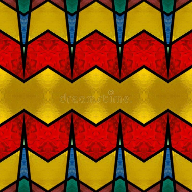 abstrakt design med målat glass i olik färger, bakgrund och textur royaltyfri illustrationer