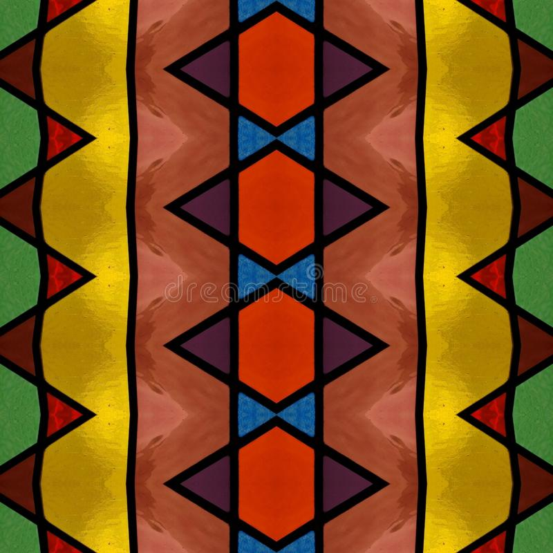 abstrakt design med m?lat glass i olik f?rger, bakgrund och textur royaltyfri illustrationer