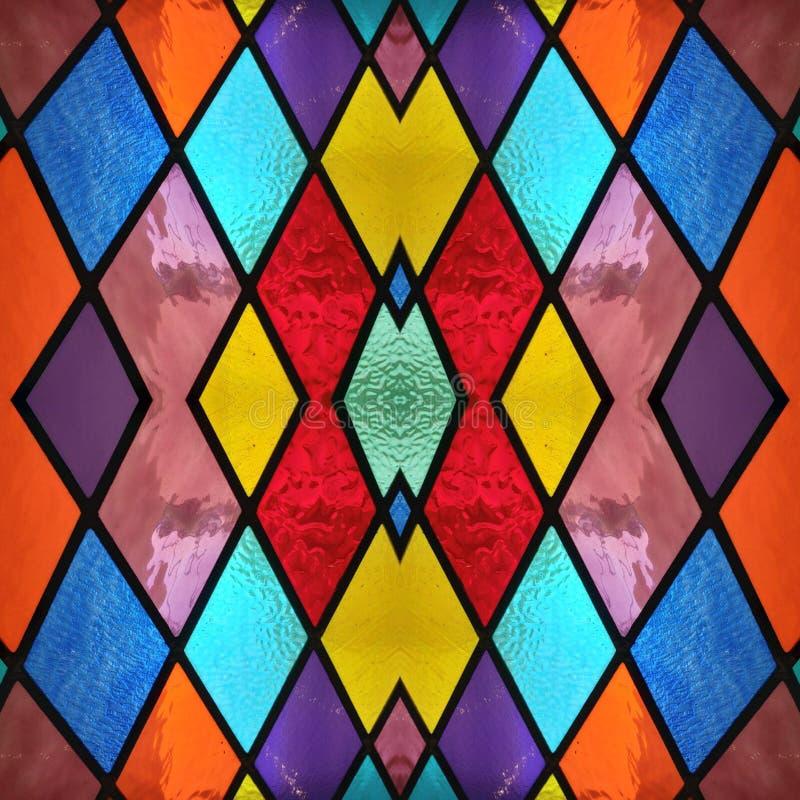 abstrakt design med m?lat glass i olik f?rger, bakgrund och textur stock illustrationer