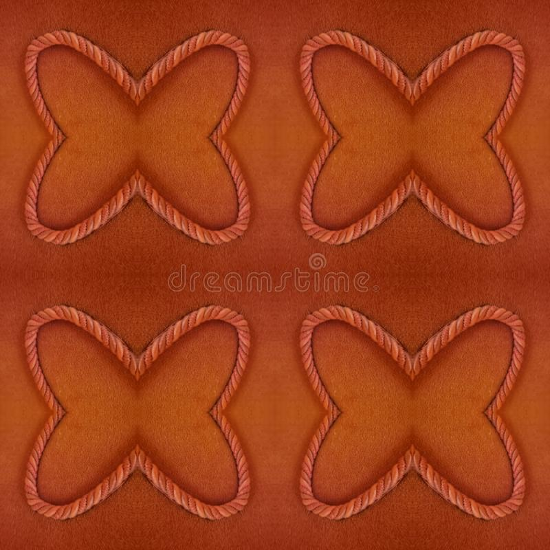 abstrakt design med tyg och kabel i r?d f?rg, bakgrund och textur stock illustrationer
