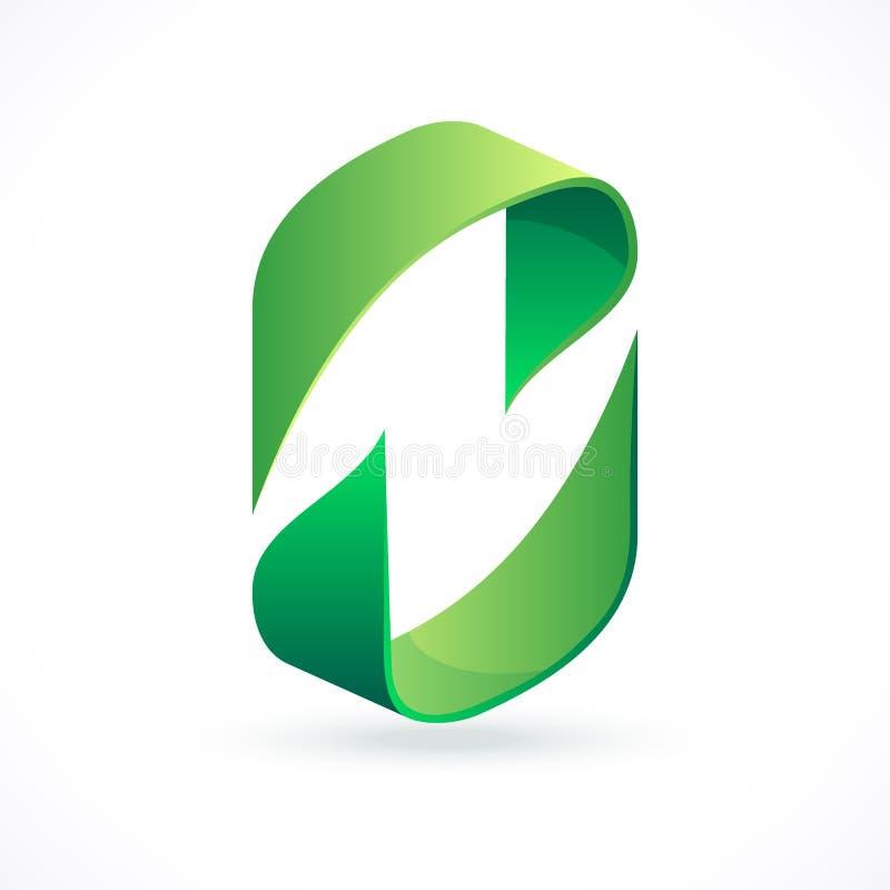 Abstrakt designbegrepp, pictogram eller logotyp stock illustrationer