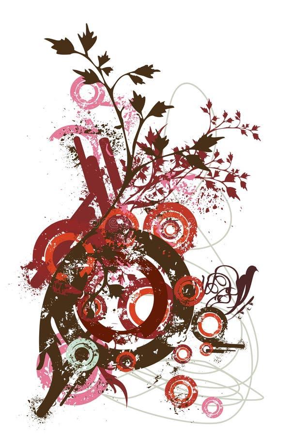 abstrakt designelementvektor royaltyfri illustrationer