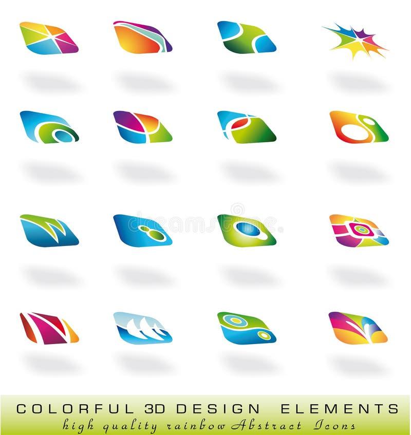 abstrakt designelments royaltyfri illustrationer