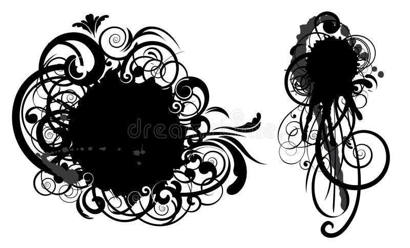 abstrakt designfläckswirl vektor illustrationer