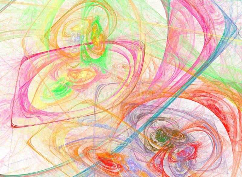 Download Abstrakt designfractal stock illustrationer. Illustration av datalista - 78731287