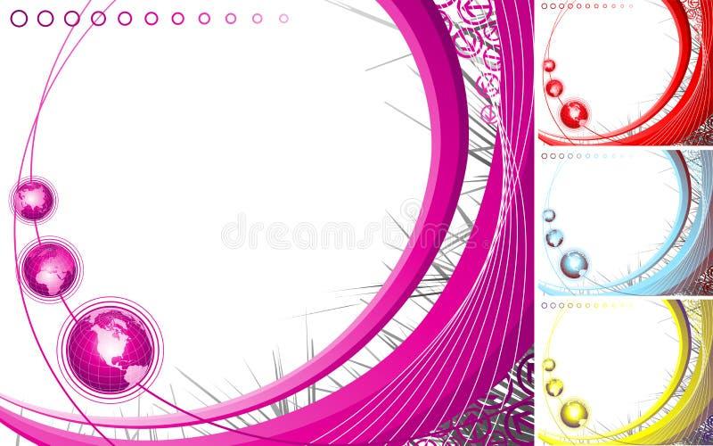 abstrakt designjordklot royaltyfri illustrationer
