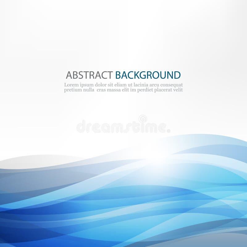 Abstrakt designkreativitetbakgrund av blåa vågor royaltyfri illustrationer
