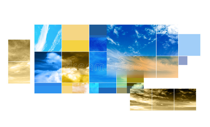 abstrakt designmontage stock illustrationer