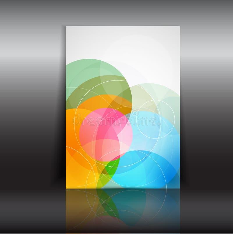 abstrakt designreklamblad royaltyfri illustrationer