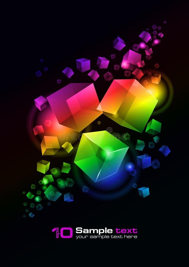 abstrakt designvektor stock illustrationer