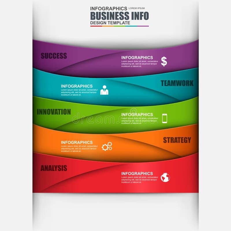 Abstrakt digital affär som 3D marknadsför Infographic royaltyfri illustrationer