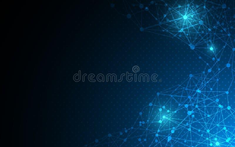 Abstrakt digital bakgrund för begrepp för innovation för hög tech för texturmodell royaltyfri illustrationer