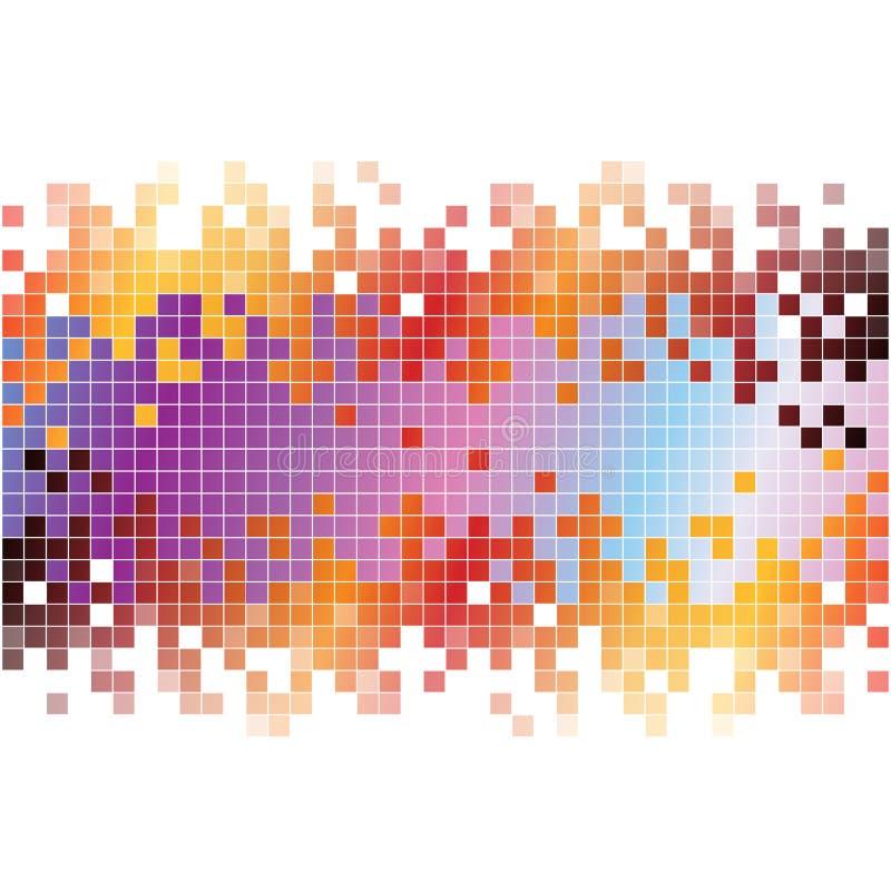 Abstrakt digital bakgrund med färgrika PIXEL royaltyfri illustrationer