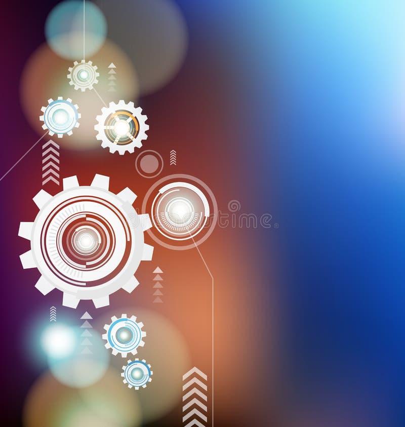 Abstrakt digital design för vektor för kuggehjulbakgrund vektor illustrationer