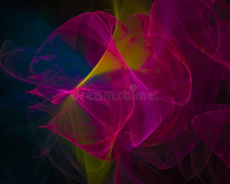 Abstrakt digital fractal, design för fantasi för vetenskap för fantasitapet kosmisk futuristisk, bakgrund, diagram stock illustrationer