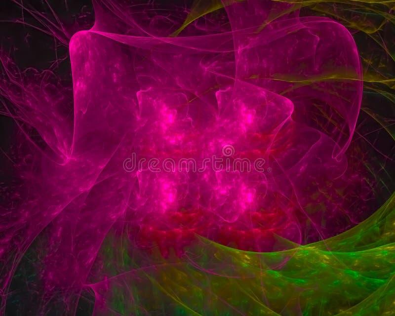 Abstrakt digital fractal, digital digital modern fantasi, härlig designrörelse, virvel som är skinande royaltyfri illustrationer