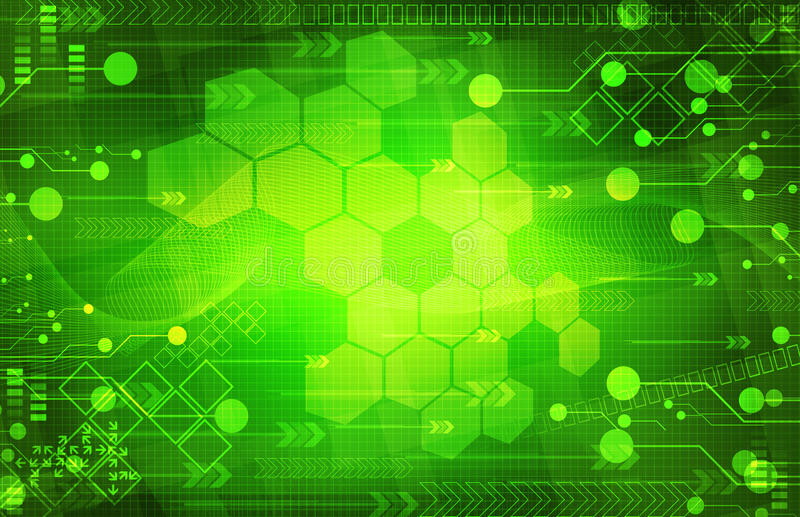 Abstrakt digital grön bakgrund vektor illustrationer
