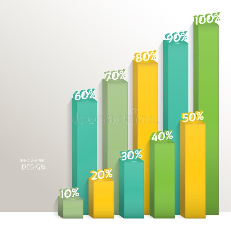 Abstrakt digital graf för illustration 3D Vektorillustrationen kan användas för workfloworientering, diagram, nummeralternativ, r vektor illustrationer