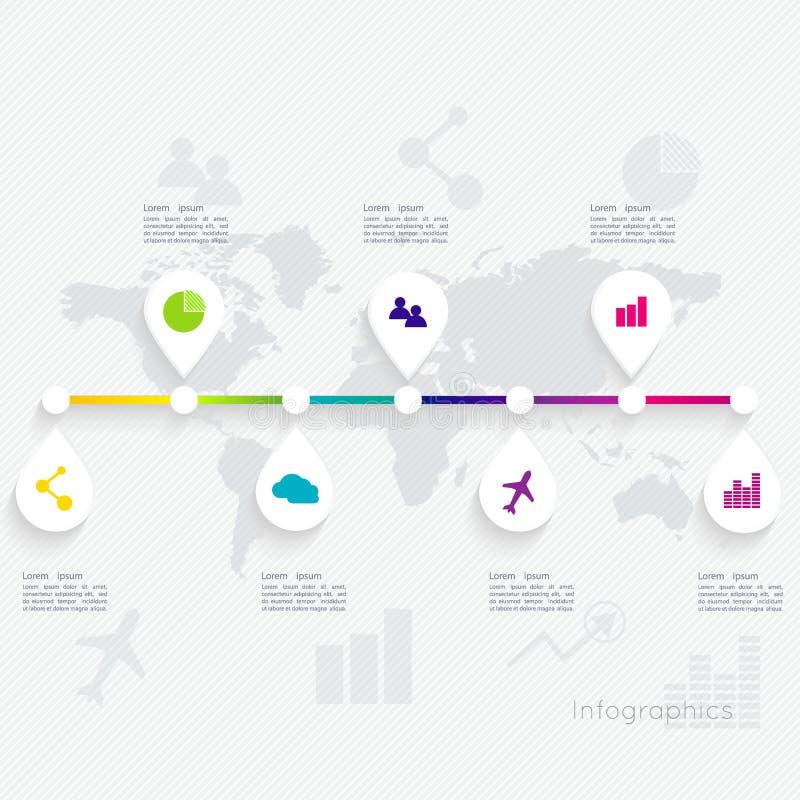 Abstrakt digital illustration Infographic stock illustrationer