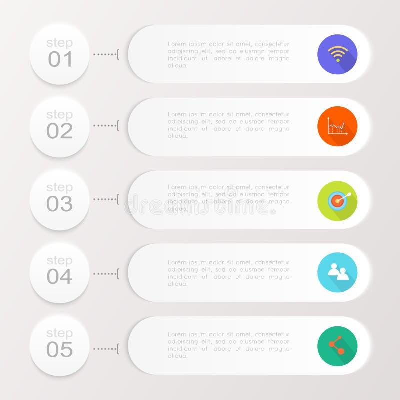 Abstrakt digital illustration Infographic royaltyfri illustrationer