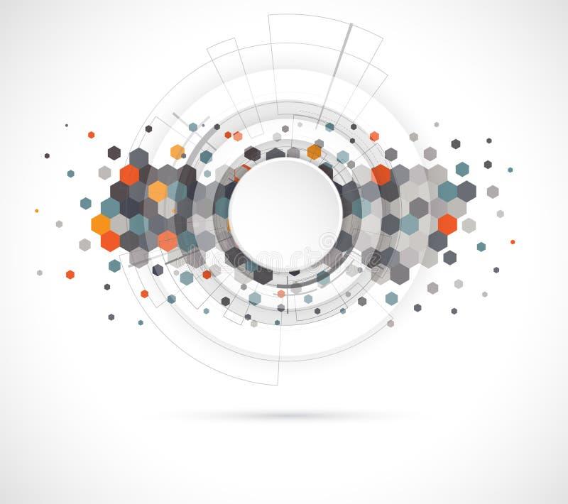 Abstrakt digital webbplatstitelrad Ljus bakgrund stock illustrationer
